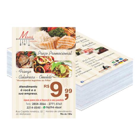 5000 Folhetos - 10x14 - 4x4 - couche 90g