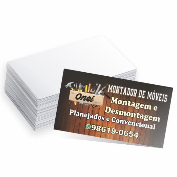 1000 Cartões - 4x0 - 9x5 cm - UV total frente